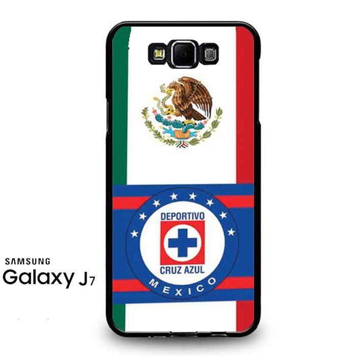 Cruz Azul Logo And Flag Samsung Galaxy J7 Prime Case