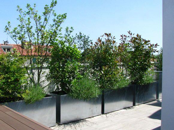 terrazzo-con-fioriere-zincate   outdoor   Pinterest