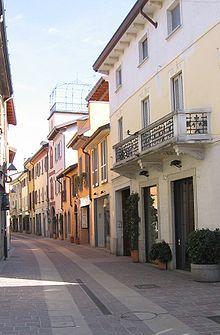 Le strade del centro storico Seregno  (Italy)