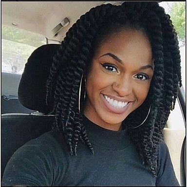 #1 Tresses Twist Extensions de cheveux 14inch Kanekalon 2 Brin 80g gramme Braids…