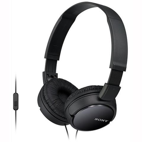 Sony MDR-ZX110APB Over-Ear Headphones Black - Front Side View