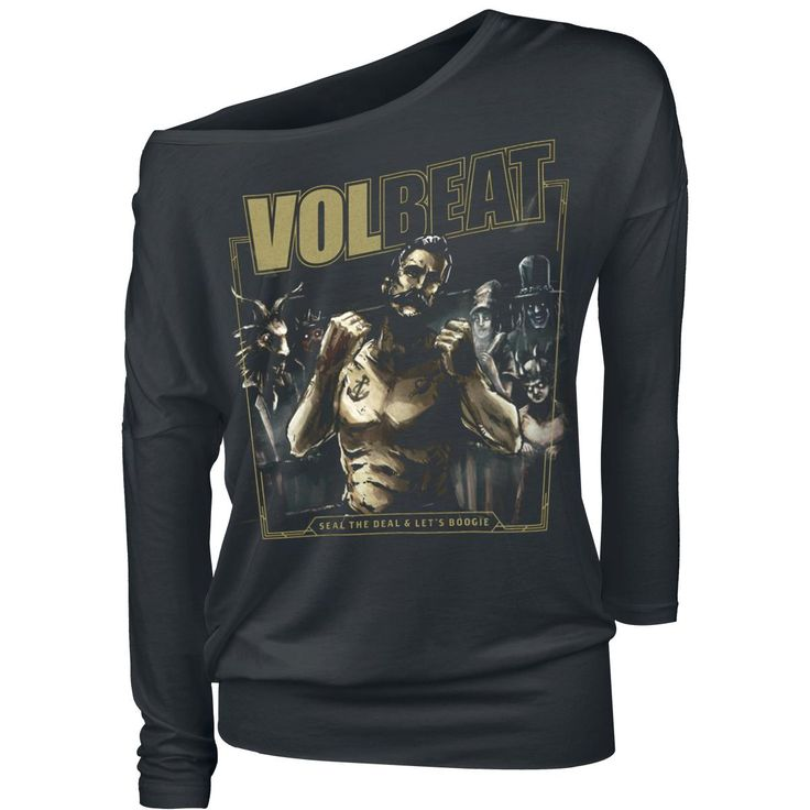 "Maglia donna a maniche lunghe ""Seal The Deal & Let's Boogie"" dei #Volbeat."