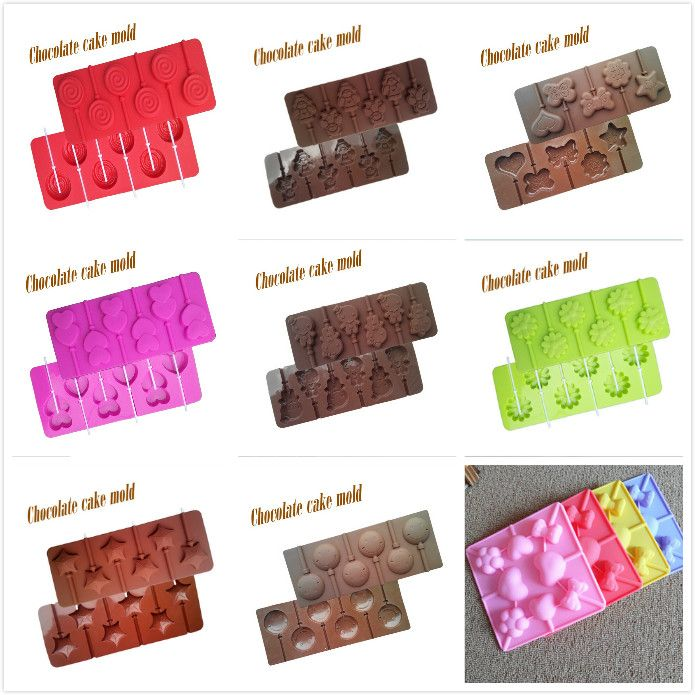 DIY烘焙棒棒糖蛋糕模微波炉硅胶烘焙蛋糕巧克力模具 送纸棒-淘宝网
