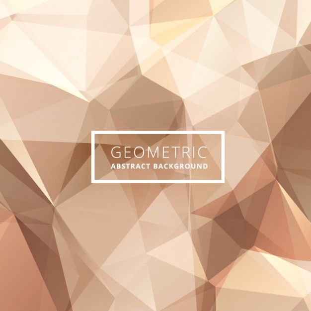 geometrical abstract golden background Free Vector