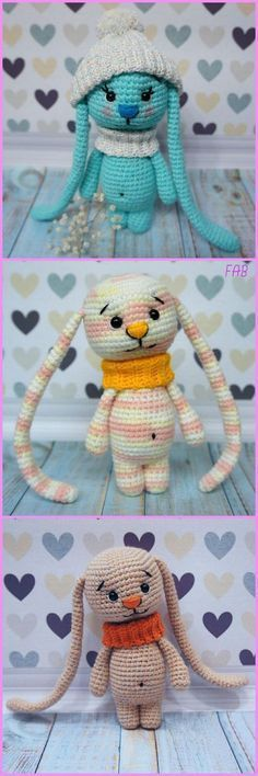 Long eared amigurumi bunny. FREE pattern!