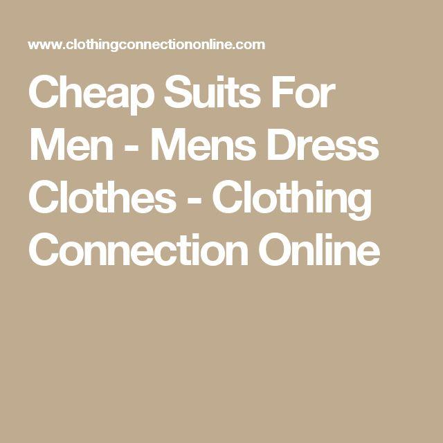 Cheap Suits For Men - Mens Dress Clothes - Clothing Connection Online