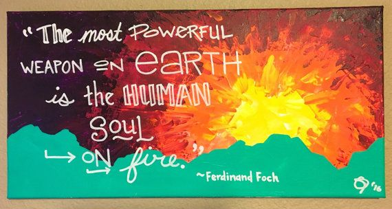 Ferdinand Foch Quote 12 X 24 handmad acrylic by VMGStudio on Etsy