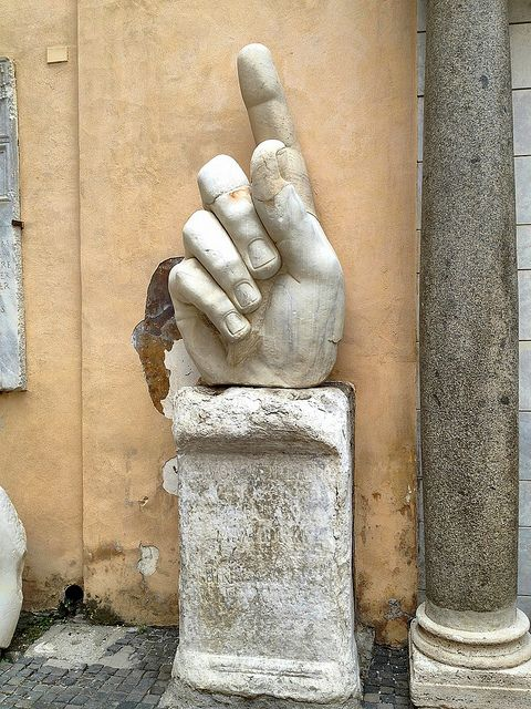 One of the Surviving Pieces of Giant Statue of Emperor Constantine at Musei Capitolini, Rome - photo by Ron Gunzburger, via Flickr