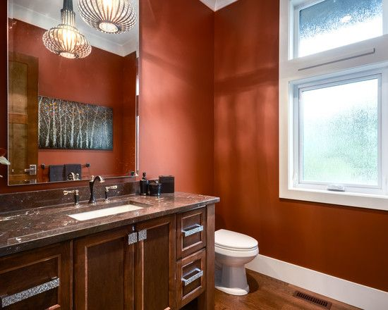 Mixed Metals Orange Bathroom