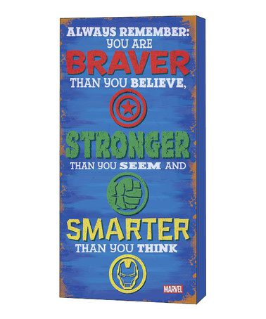 Look what I found on #zulily! Avengers 'Stronger' Inspirational Décor #zulilyfinds