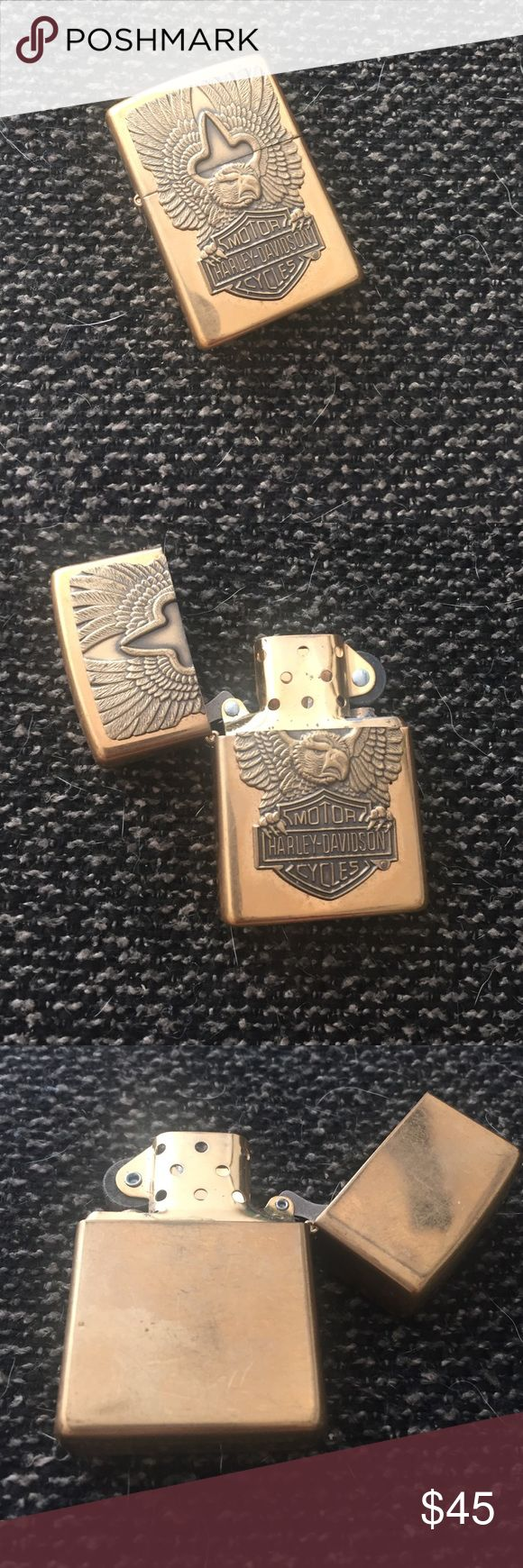 Harley Davidson Zippo Lighter Harley Davidson gold Zippo. Cannot find in stores, vintage. Just need to add the fluid!! Harley-Davidson Accessories