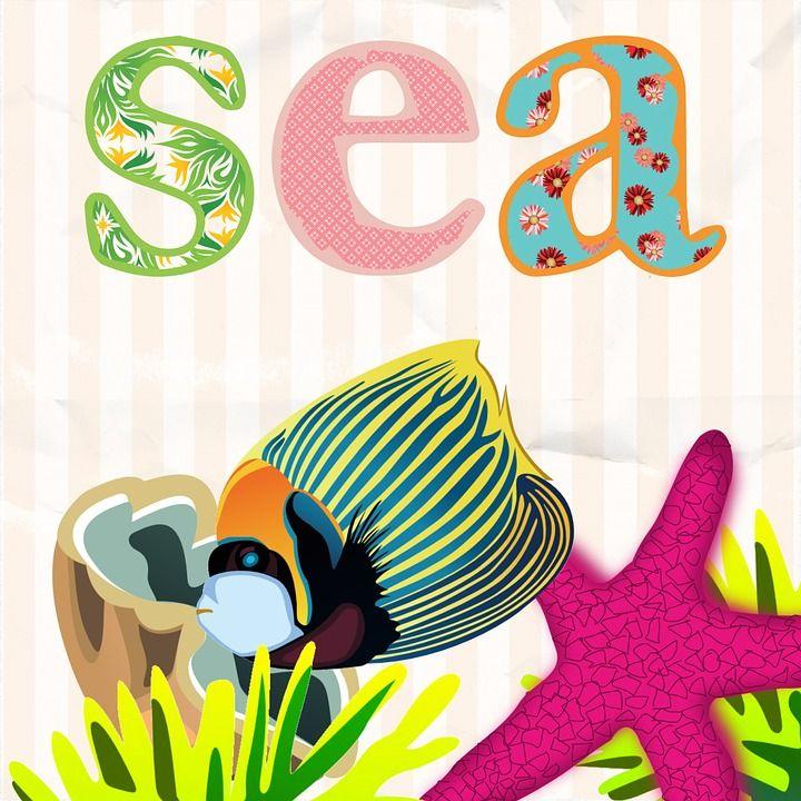 Море, Дети, Рыбы, Розовый, Декор, Ребенок, Океан