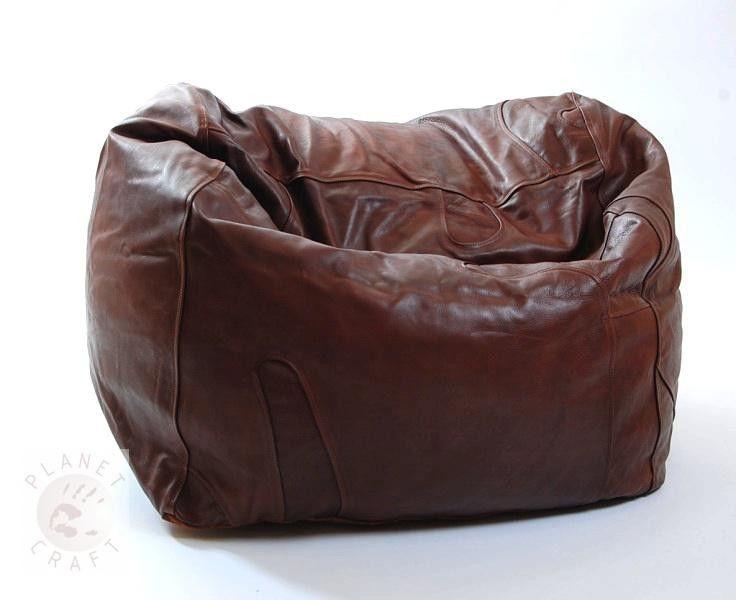 Chestnut Princess Buffalo Leather Beanbag