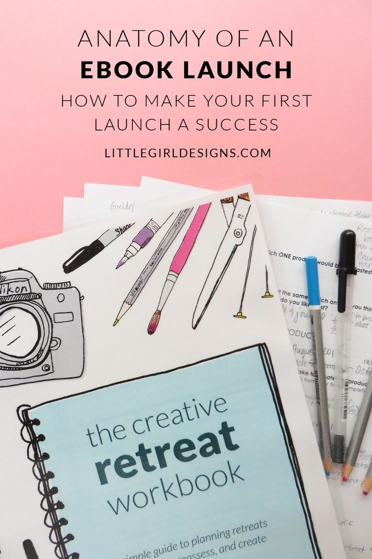 Anatomy of an eBook Launch - Have you ever wondered what the steps are to launch an eBook? I share what I did for my latest launch as well as the actual spreadsheet I used to track everything. @ littlegirldesigns.com