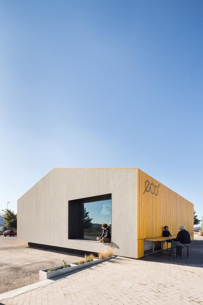 Exterior. Eco Bar by Giuseppe Gurrieri. Photography © Filippo Poli.