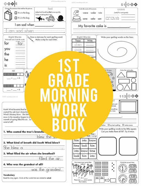 Printables Daily Morning Work 1st Grade 1000 images about 1st grade on pinterest activities first common core morning work book by secondstorywindow 23 00