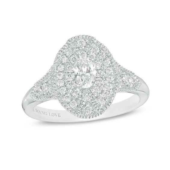 551a0054c1a1c Vera Wang Love Collection 1 CT. T.w. Pear-Shaped Diamond Frame ...