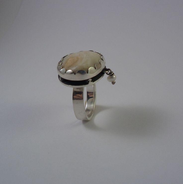 Alexandra Astafeva. Silver Ring. Pearls. Cockleshell.