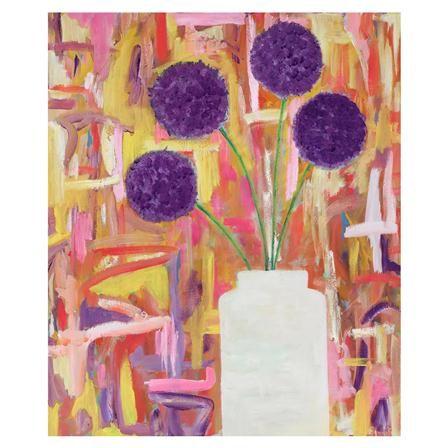 Lámina Purple Allium de Mariska Meijers, 36x43cm