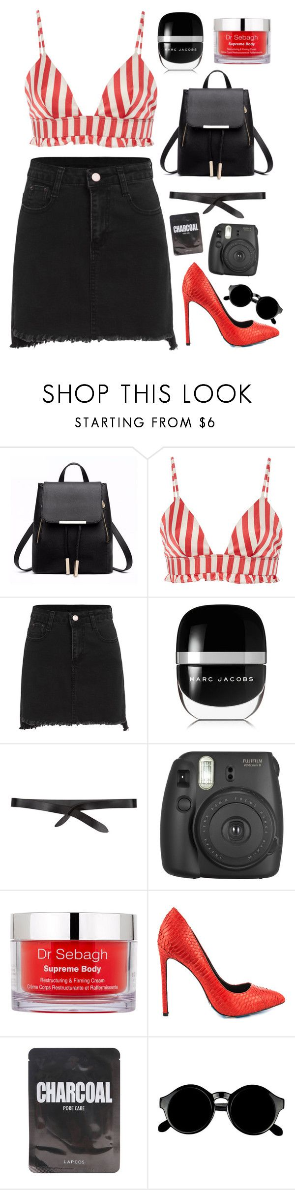 """""""Candy"""" by mode-222 ❤ liked on Polyvore featuring Morgan Lane, Marc Jacobs, Isabel Marant, Fujifilm, Dr. Sebagh, TaylorSays, Lapcos and Retrò"""