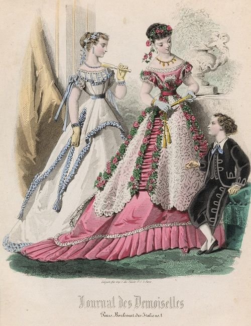 January fashions, 1867 France, Journal des Demoiselles