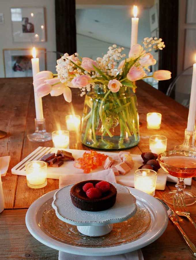 Valentines Table For Two Romantic Setting Hallstrom Home In 2020 Romantic Dinner Tables Romantic Dinner Decoration Romantic Dinner Setting