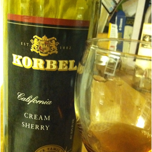 Who knew Korbel made sherry?? But they do! Awesome cream sherry not meaty. Not syrpy. Carmel, cream and smoke with a hint of fire. Really good and super reasonable. About gone!