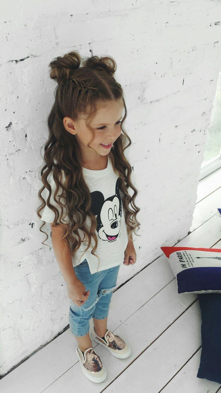 Babyfrisur #cutegirlhair #littlegirlhairstyle #trenzas #hondas #curlsforba