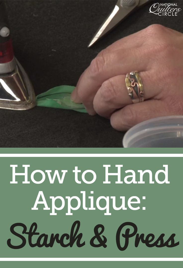 Heather Thomas teaches you how to applique by hand using the starch and press technique for your quilting projects. She walks you through the step-by-step process, demonstrating the trimming, starching and pressing.