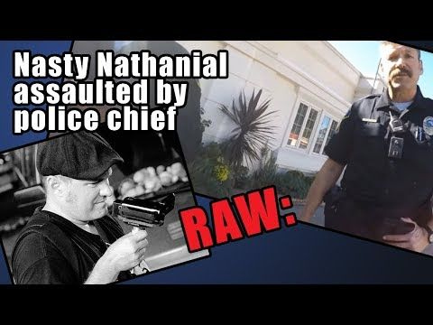 (1541) RAW: Protester Nasty Nathanial assaulted by Morro Bay Chief of Police - YouTube