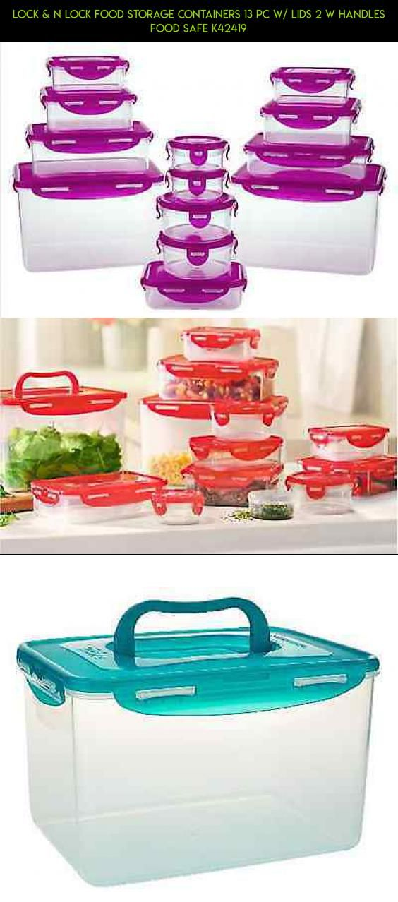 Lock & N Lock Food Storage Containers 13 pc w/ lids 2 w Handles Food Safe K42419 #products #plans #containers #gadgets #storage #camera #technology #tech #shopping #kit #drone #parts #racing #2 #fpv