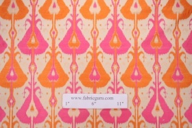 Hamilton Jetson Tapestry Upholstery Fabric in Tangerine Made in Turkey $56.95 per yard