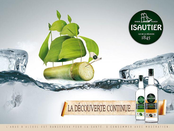 [Ile de la Réunion] - Rhum ISAUTIER blanc - publicité  http://www.isautier.com/fr/