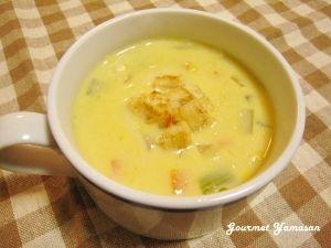コーンクリーム缶de時短♪簡単コーンスープ レシピ・作り方 by グルヤマ|楽天レシピ