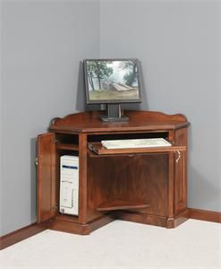 amish corner computer armoire