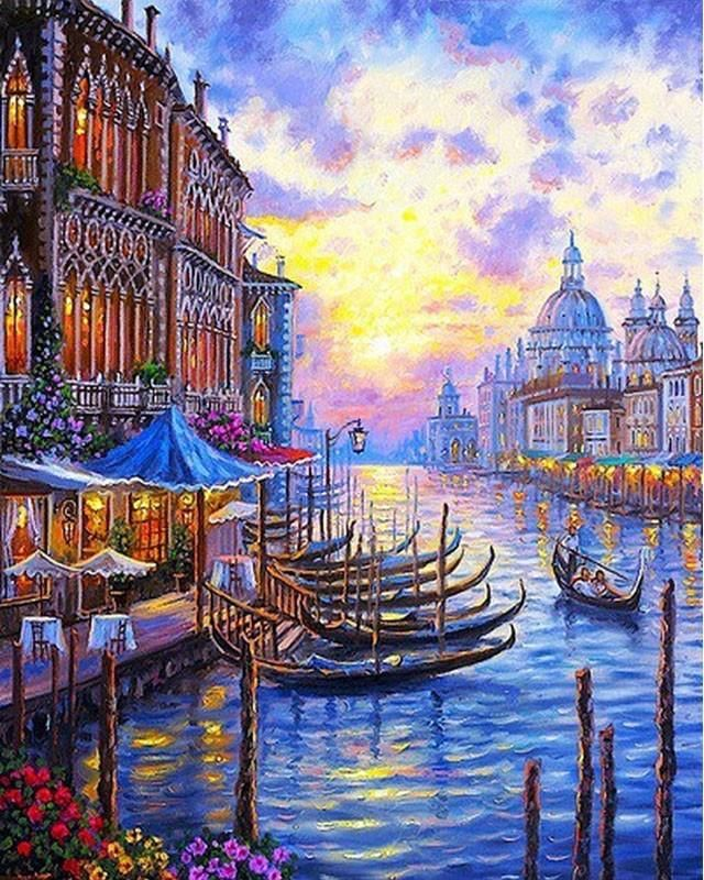 Night In Venice Paint By Numbers Kit For Adults Venice