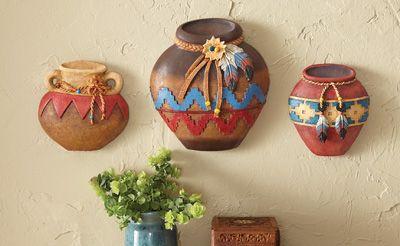 Southwest Pottery Wall Decor Set of 3