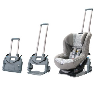 Smart new way to get that car seat through the airport. #travel--genius!