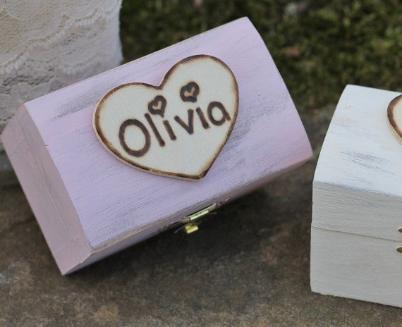 Personalized Bridesmaid Gift Jewelry Boxes by MichelesCottage, $24.00