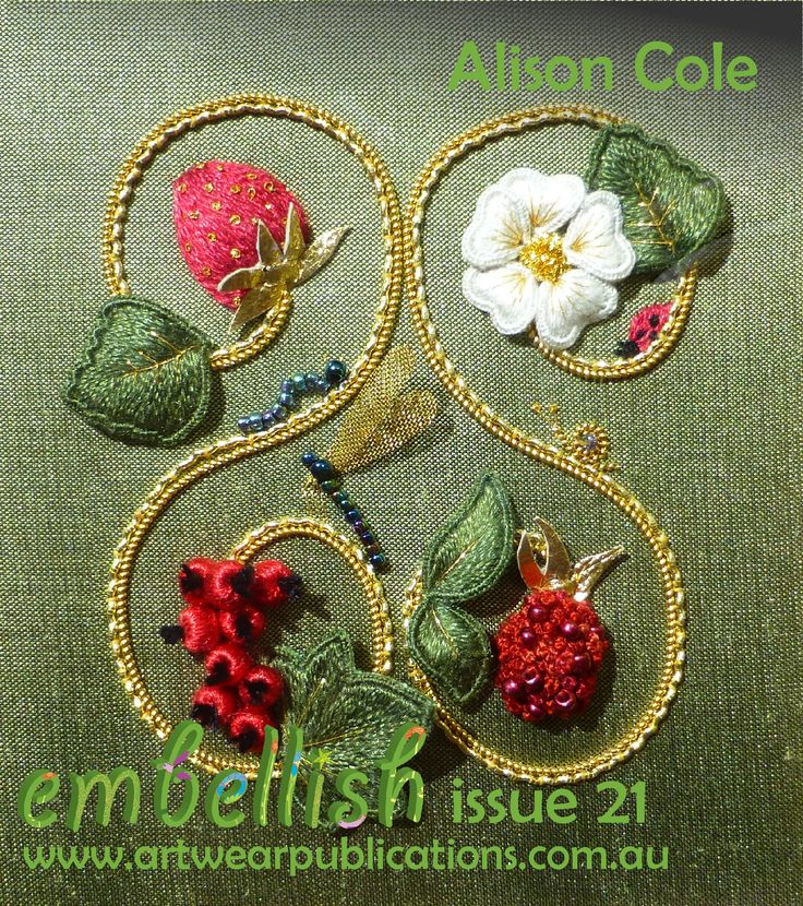 Alison Cole's beautiful embroidery appeared in Embellish issue 21.