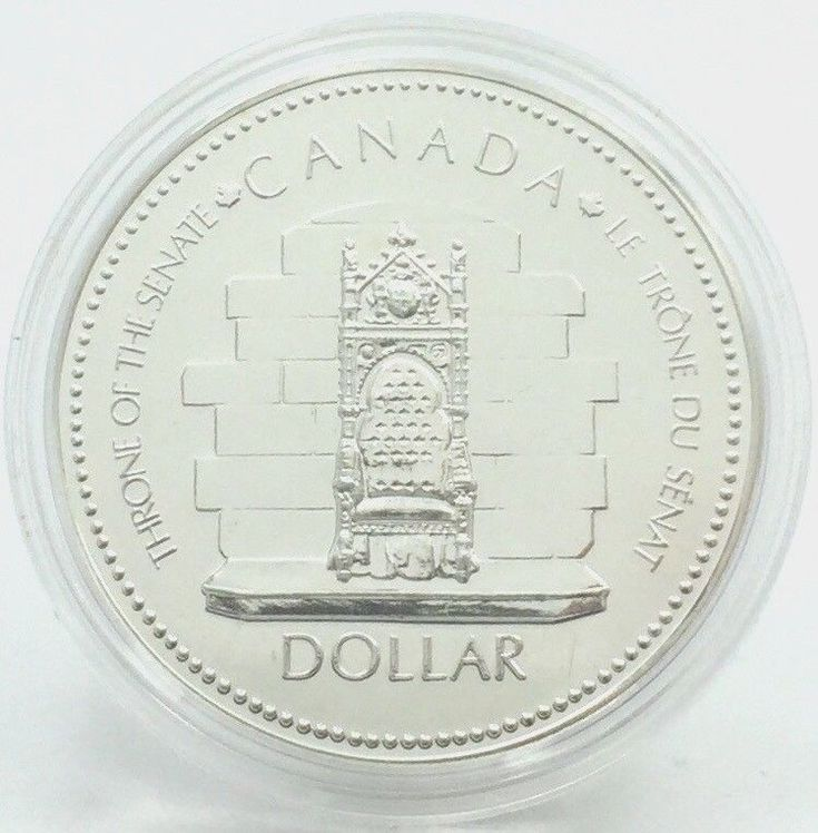 Item specifics    									 			Grade:   												Ungraded  									 			Country/Region of Manufacture:   												Canada    									 			Circulated/Uncirculated:   												Uncirculated   							 							  1952-1977 Canadian Dollar Throne of the Senate Silver Jubilee In Capsule ...