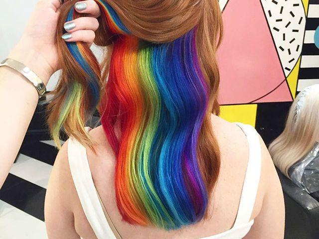 I got: Hidden Rainbow Hair! QUIZ: Which Insane Hair Colour Trend Should You Rock In 2017?