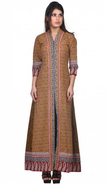 Best 25 floor length kurti ideas on pinterest floor for Floor length kurti