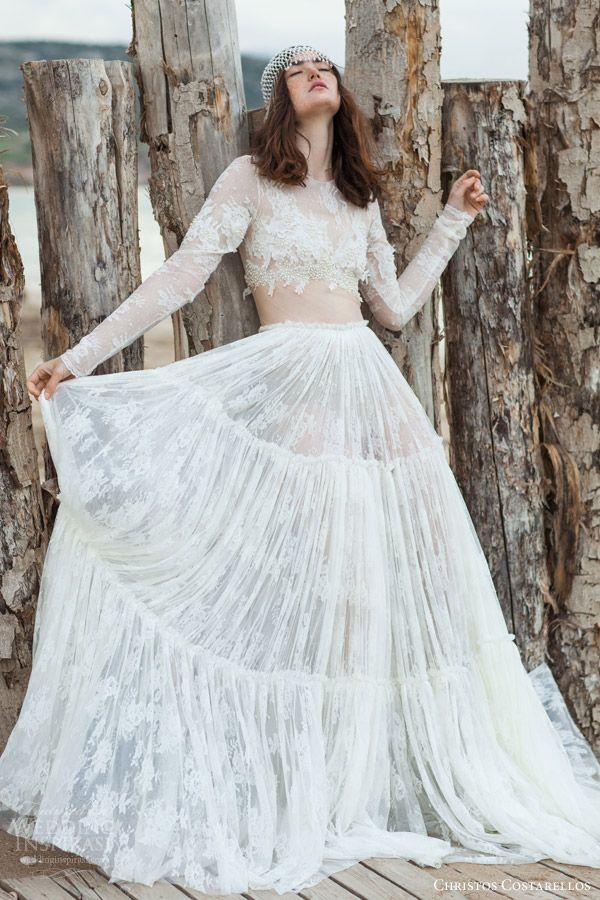 Resultado de imagem para wedding dress cropped beach