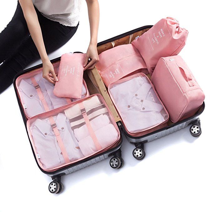 a6a23e85cef4 7 pcs Luggage Packing Organizers Packing Cubes Set for Travel Review ...