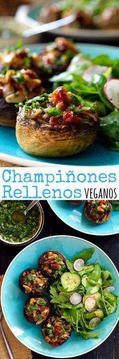 Los champiñones rellenos vegetarianos son fáciles de hacer y están repletos de…