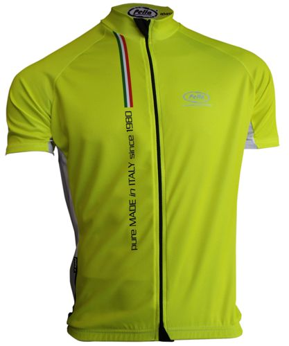 Maglia Ciclismo Manica Corta Mortirolo Pure Made in Italy Gialla - Store For Cycling