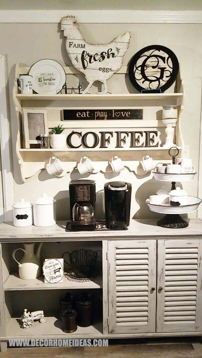 100 Best Diy Coffee Bar Ideas For All Coffee Lovers In 2020 Diy