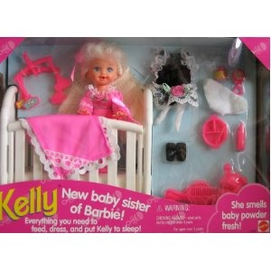 Barbie KELLY New Baby Sister of Barbie! Set (1994) < - I received this as a bday gift one year at a Bob's Big Boy :)
