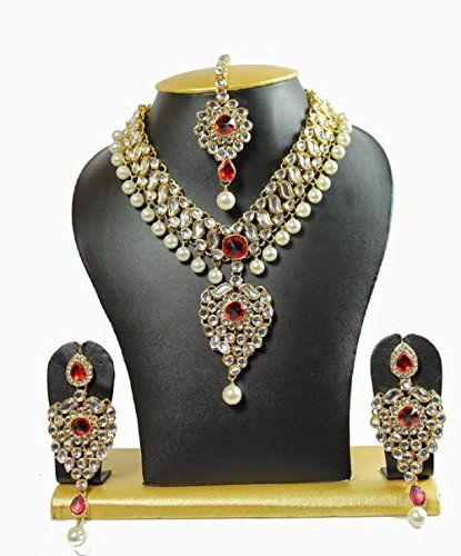 Indian Bollywood Red Stone White Pearls Gold Plated Party... https://www.amazon.com/dp/B01N5SJIF4/ref=cm_sw_r_pi_dp_x_PtYHyb8WN5H3X